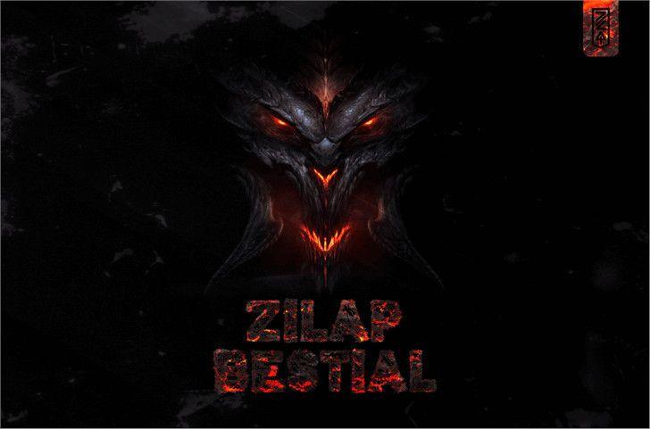 Zilap Bestial Font-1