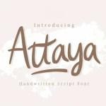 Attaya Handwritten Font
