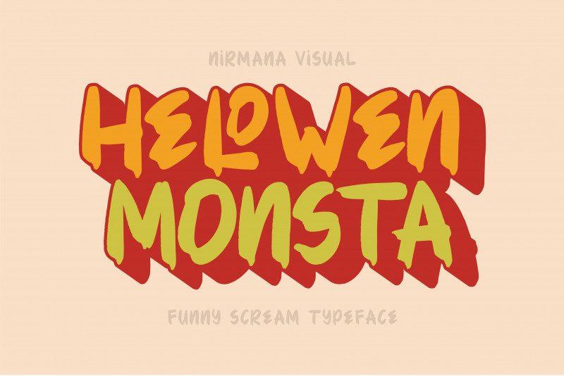 Hellowen Monsta Font