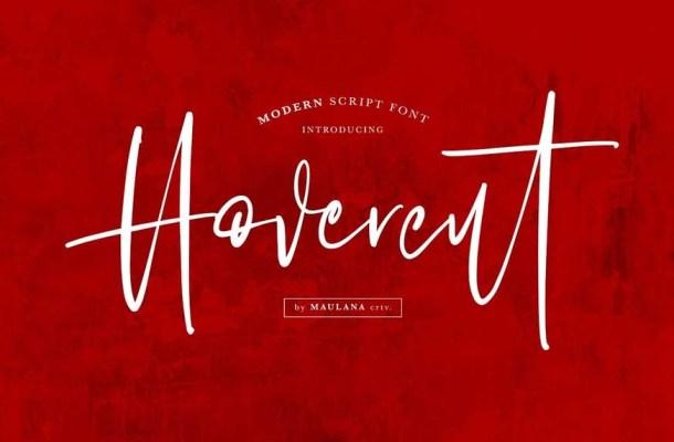 Hovercut Brush Script Font