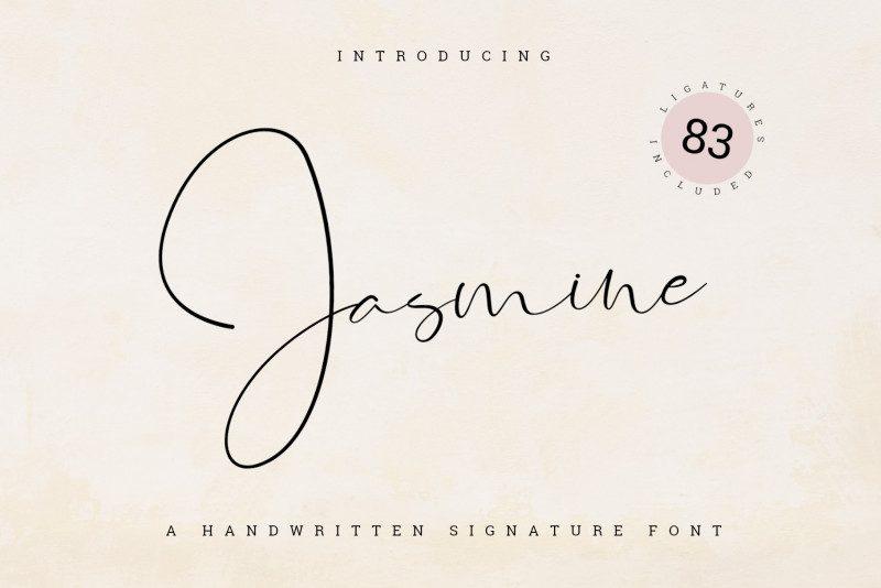 Jasmine Signature Font-1