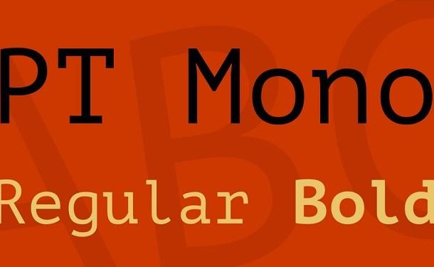PT Mono Font Family