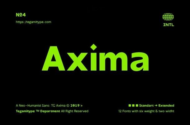 TG Axima Font Family