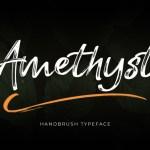 Amethyst Hand Brush Font