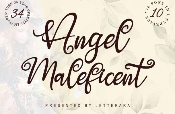 Angel Maleficent Font