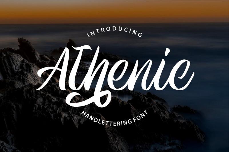athenic-script-font