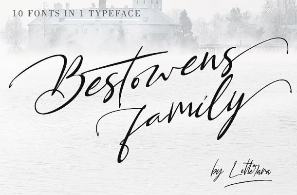 Bestowens Family Font