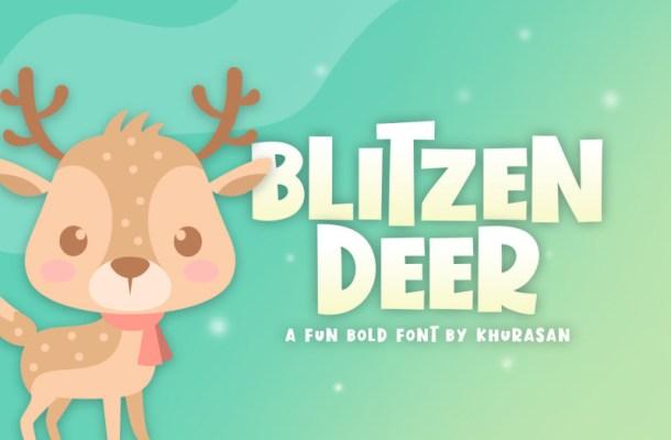 blitzen-deer-font-1