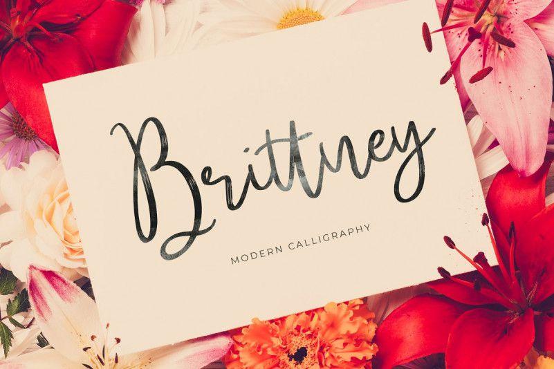 brittney-script-font