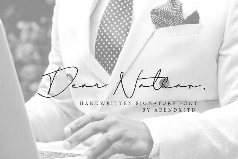 dear-nathan-signature-font