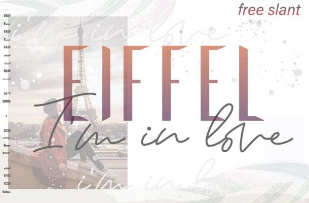 Eiffel in love Font