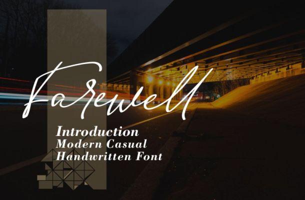 Farewell Font