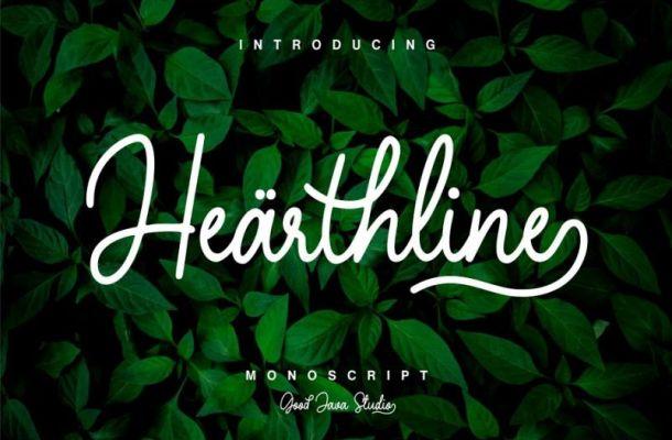 Hearthline Script Font