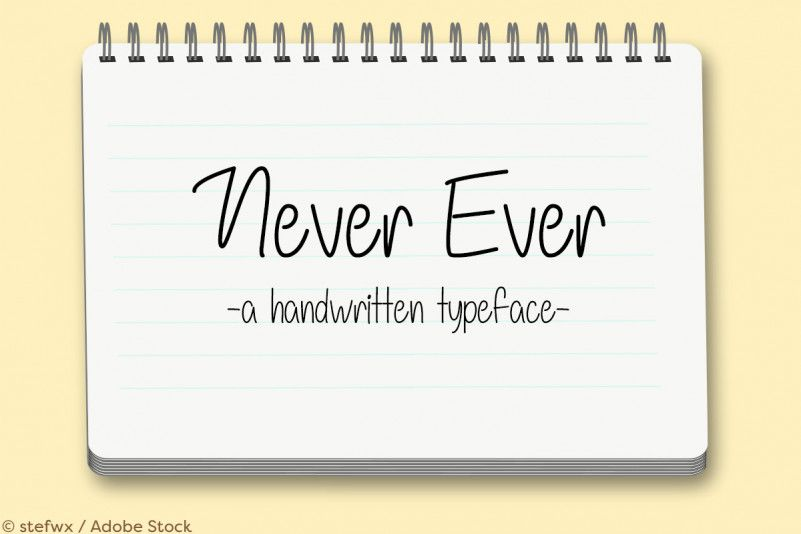never-ever-font-1