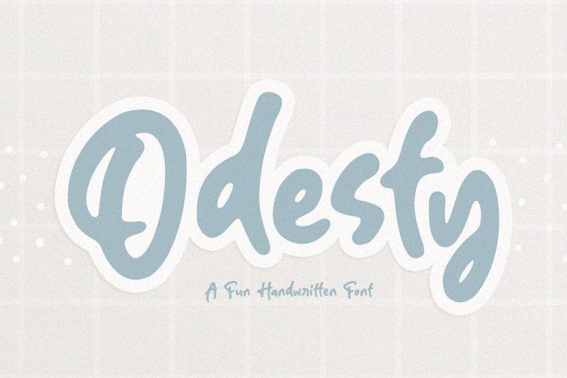 odesty-font-1