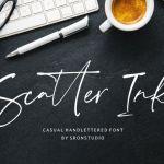 Scatter Ink Handlettered Font