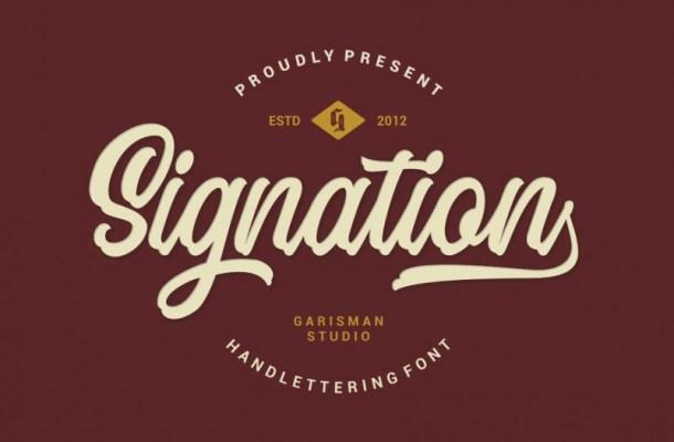 Signation Script Font