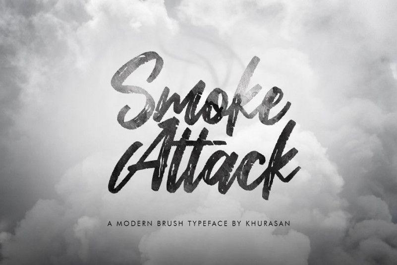 smoke-attack-brush-font-1