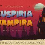 Suspiria Vampira Display Font