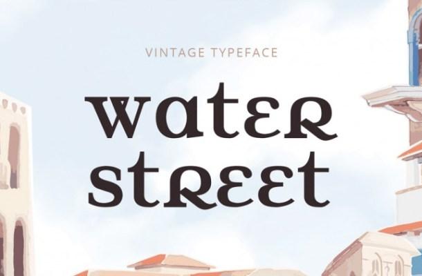 Water Street Free Font
