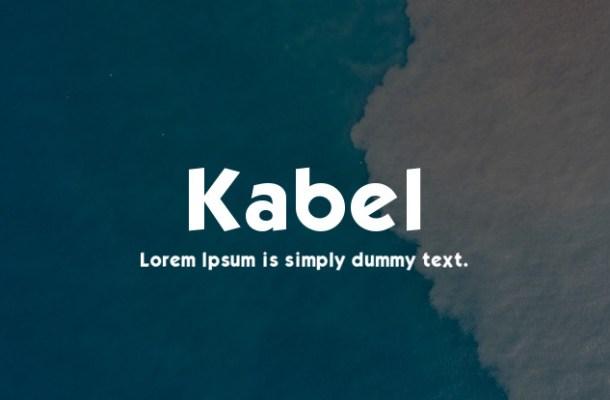 Kabel Font Free