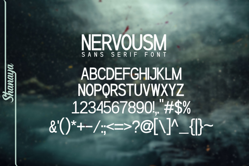 Nervousm Sans Serif Font-2