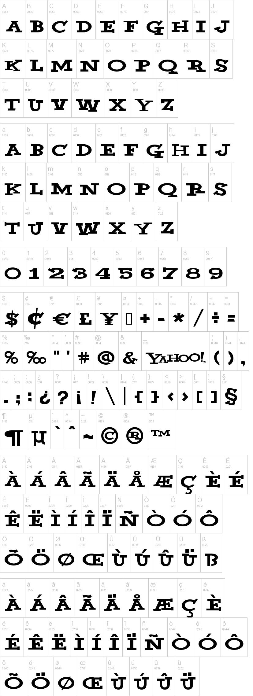 Yahoo Font-2