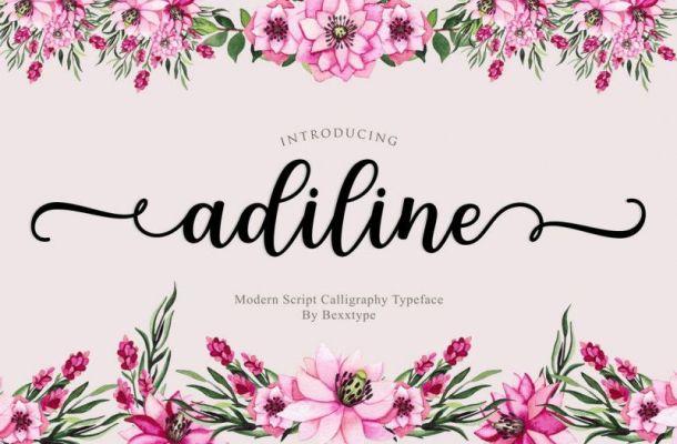 Adiline Calligraphy Font