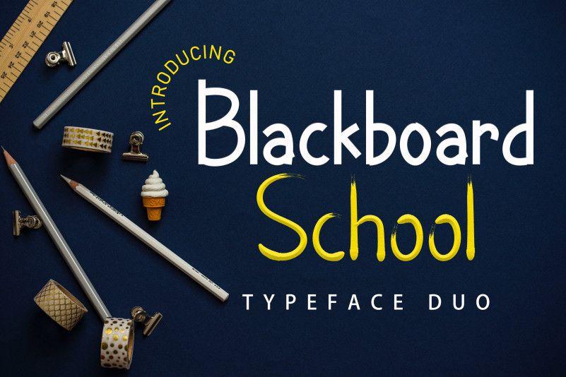 blackboard-school-font-1