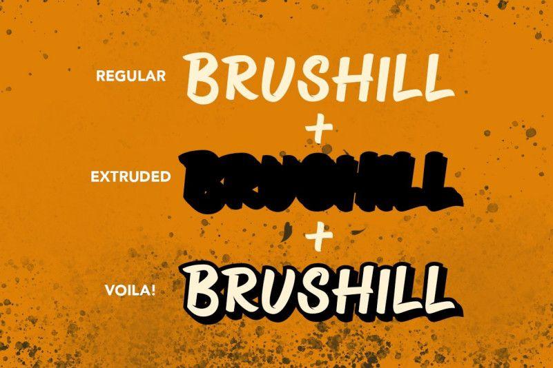 brushill-font-3