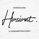 Hasiant Handwritten Font