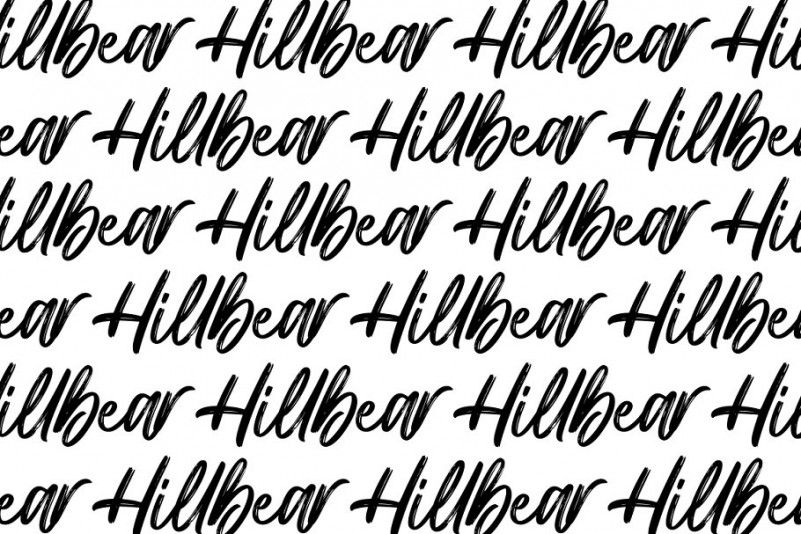 hillbear-brush-font-3