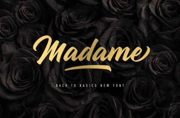 Madame Script Font