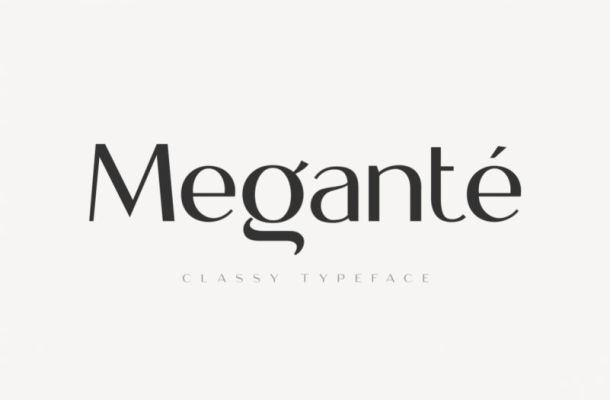 Megante Display Font