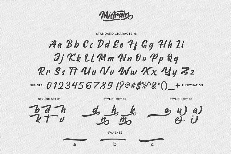 mistrain-script-font-3