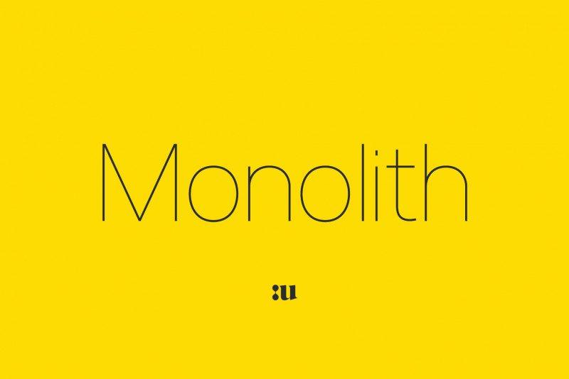 monolith-font