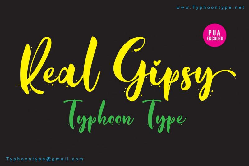 real-gipsy-script-font