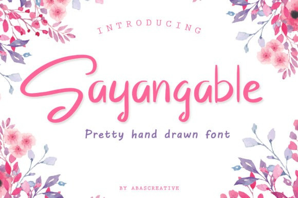 Sayangable Font