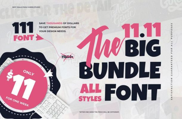 The 11.11 Bundle Font