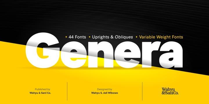 Genera Font