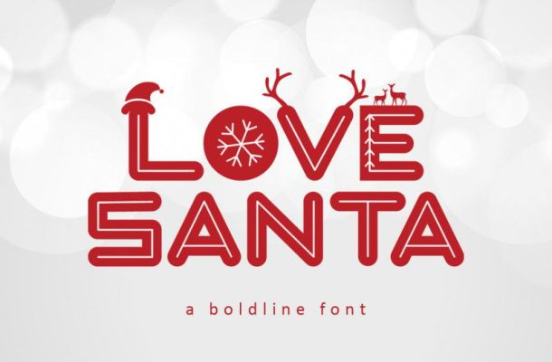 Love Santa Font for Christmas