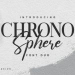 Chrono Sphere Font Duo