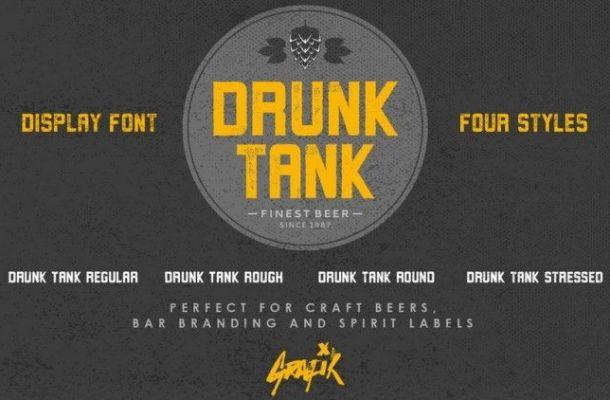 Drunk Tank Font