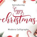 Happy Christmas Calligraphy Font