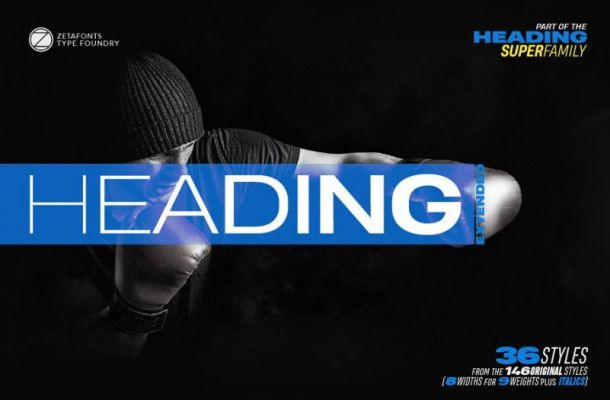 Heading Pro Wide Font Family