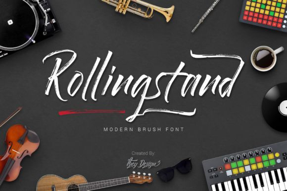 Rollingstand Brush Font