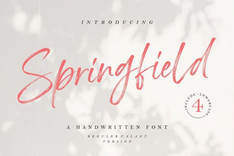 springfield-hand-brush-font