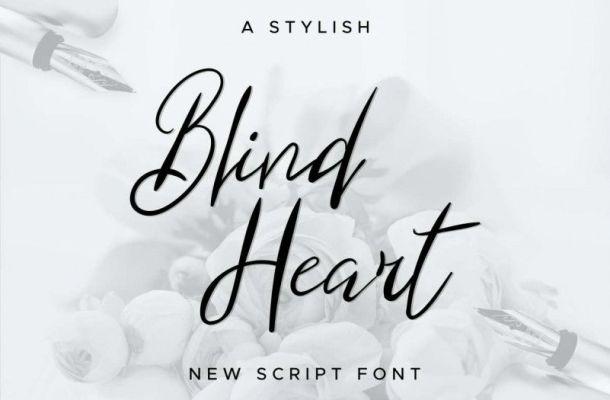 Blind Heart Script Font
