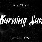 BurningSun Marker Script Font
