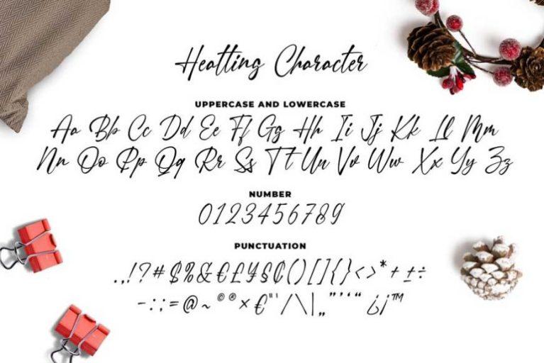 Heatting Signature Font